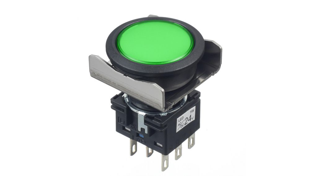 Köp Pilot Light Green 22 mm 24 V