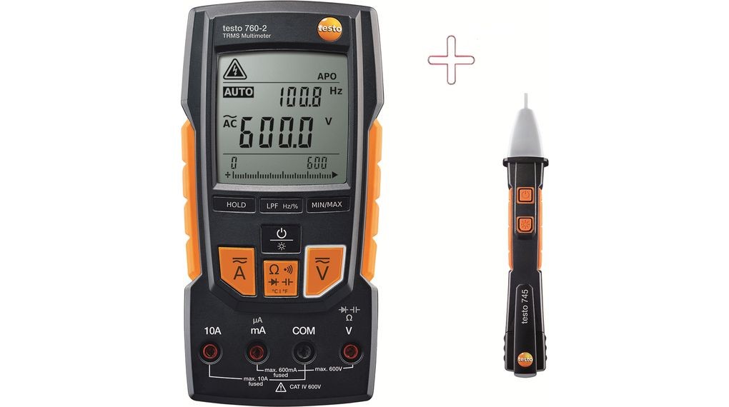 Köp Multimeter digital with Non-contact Voltage Tester TRMS AC+DC 600 VAC 600 VDC