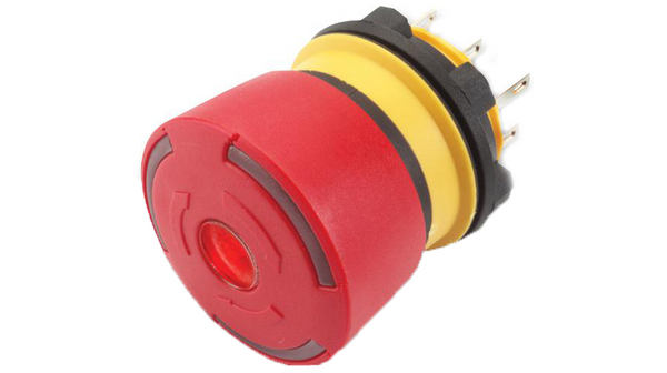 Köp Emergency Stop Switch 2NC Round Button Plug Connection