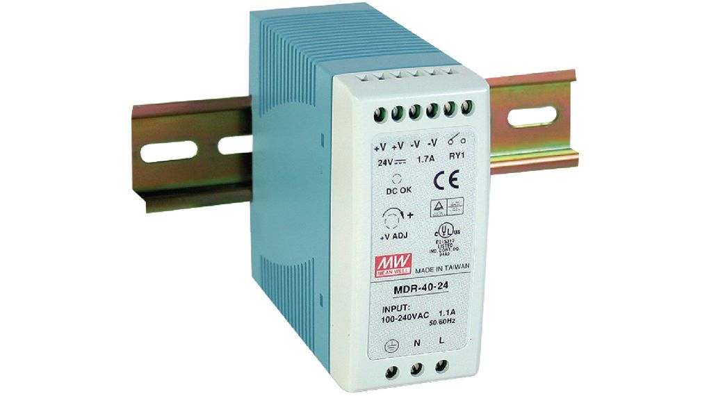 Köp DIN Rail Power Supply, 24V, 1A, 24W, Adjustable